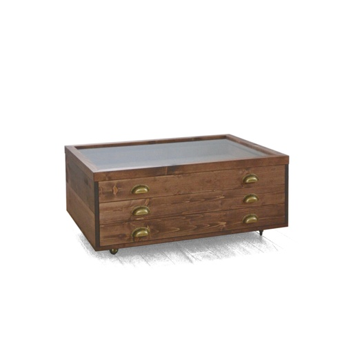 Showcase coffee table with drawers nuotrauka
