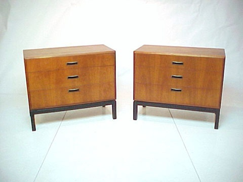 Pair of Walnut Chests of Drawers in the style of Harvey Probber