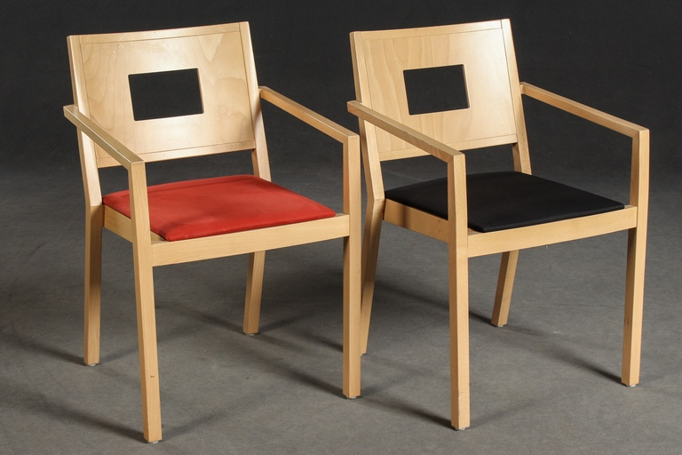 Pair of Stacking Chairs by Brunner