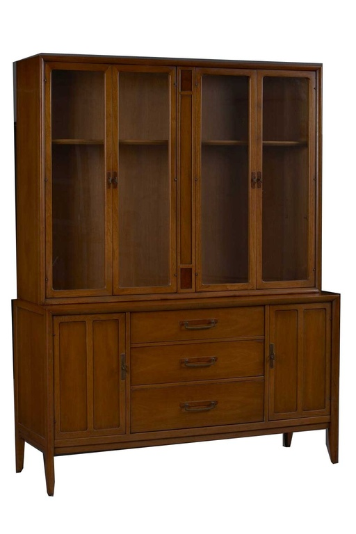 Sideboard and China Cabinet Hutch by James Bouffard for Drexel