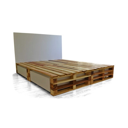 Pallets bed with drawers nuotrauka