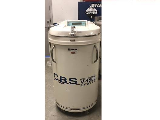 Custom Biogenic Systems V-1500 Cryo Storage Tank