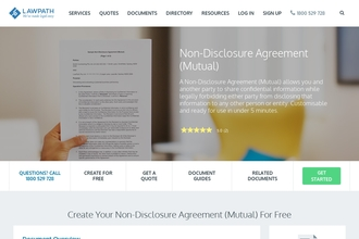 Non Disclosure Agreement Mutual From Lawpath Review