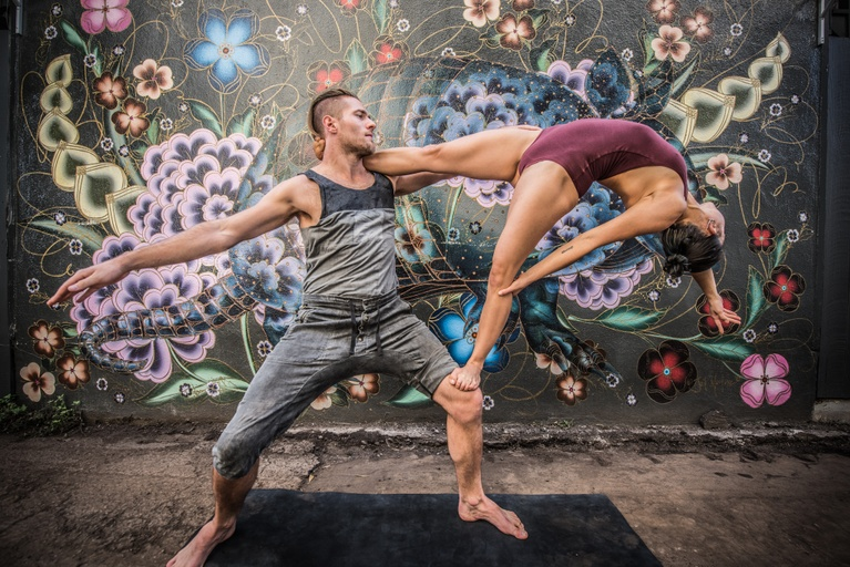 Meditation, Stretching, and Acro Yoga