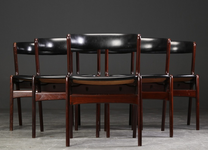 Set of 6 Kai Kristiansen Model 42 Teak Dining Chairs for Schous Møbelfabrik