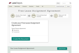Image of Lease Assignment from LawDepot | Review